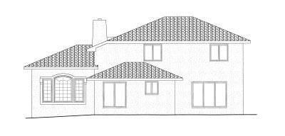 Rear Elevation Plan: 10-822