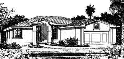 Southwest Style Home Design Plan: 10-823