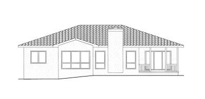 Rear Elevation Plan: 10-823