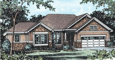 Craftsman Style Floor Plans Plan: 10-824