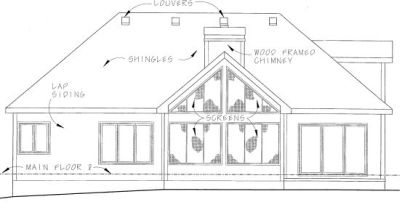 Rear Elevation Plan: 10-826