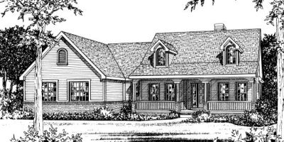 Farm Style Home Design Plan: 10-827