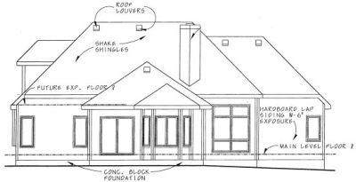 Rear Elevation Plan: 10-829