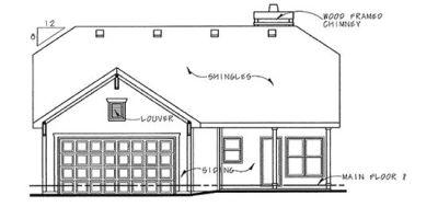 Rear Elevation Plan: 10-833