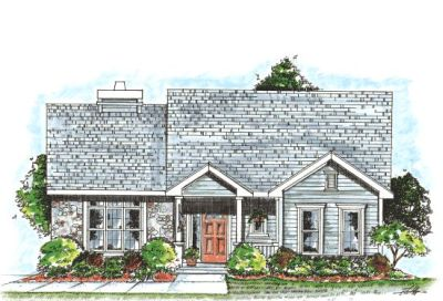 Cottage Style Home Design Plan: 10-834