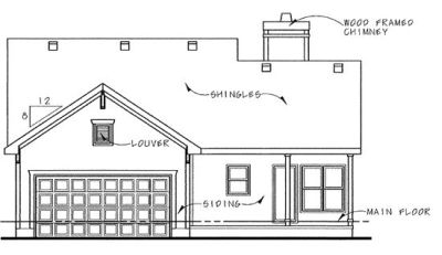 Rear Elevation Plan: 10-834