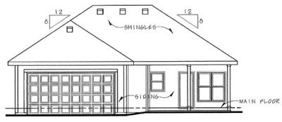 Rear Elevation Plan: 10-835