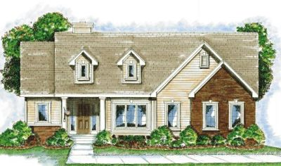 Country Style Home Design Plan: 10-837