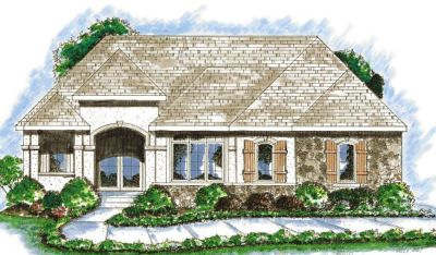 Traditional Style Home Design Plan: 10-838