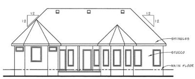 Rear Elevation Plan: 10-838
