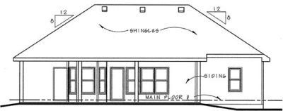Rear Elevation Plan: 10-839