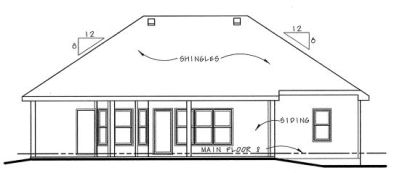 Rear Elevation Plan: 10-840
