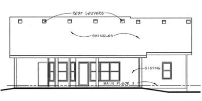 Rear Elevation Plan: 10-841