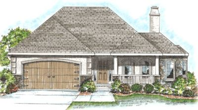 European Style Home Design Plan: 10-843