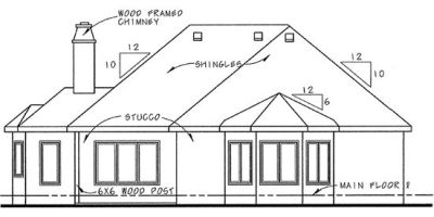Rear Elevation Plan: 10-843