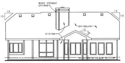 Rear Elevation Plan: 10-846