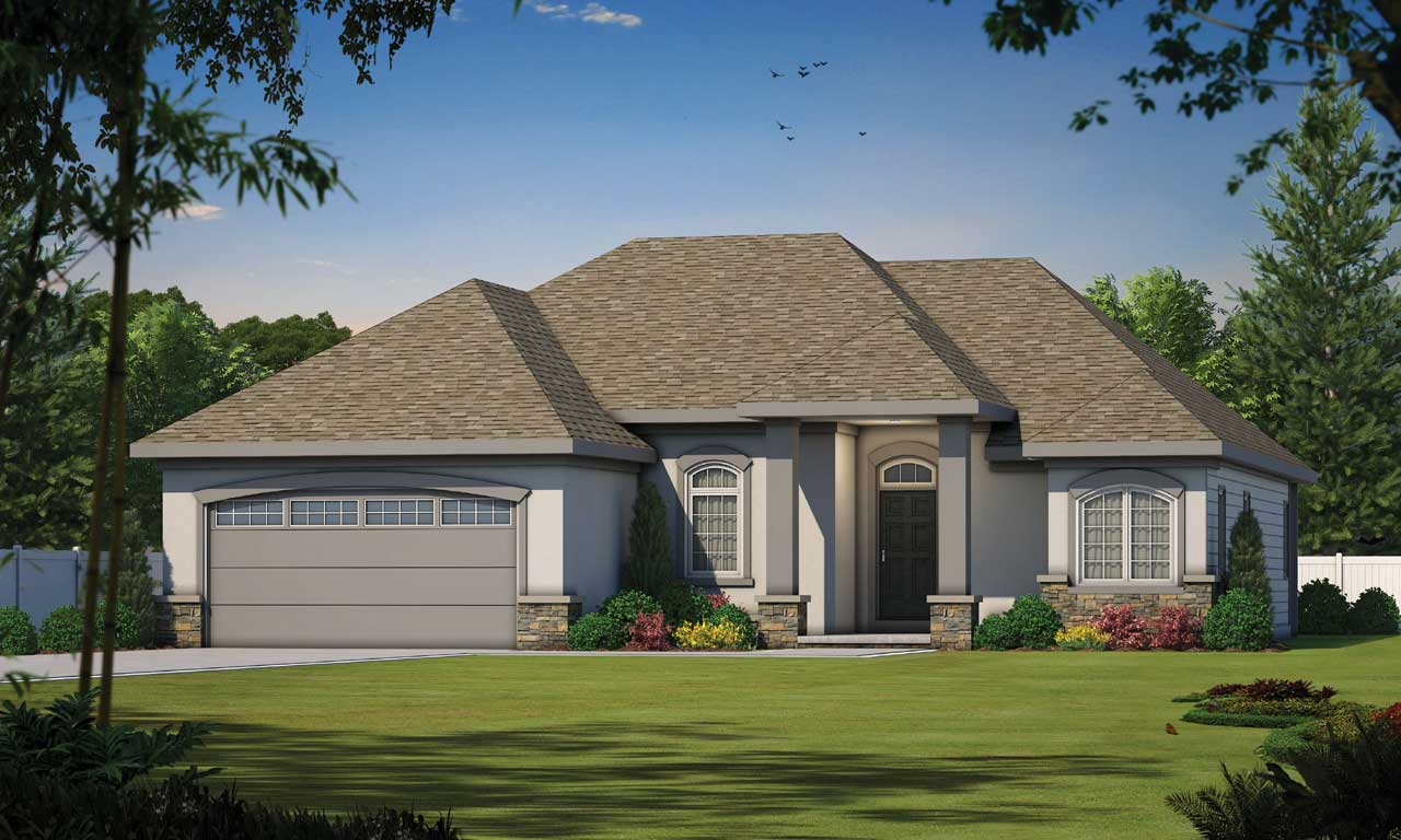 European Style Floor Plans Plan: 10-847