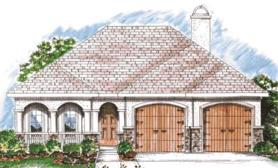 European Style House Plans 10-848