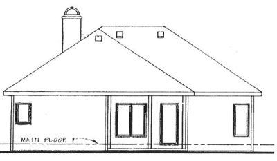 Rear Elevation Plan: 10-848