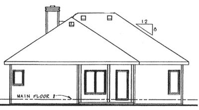 Rear Elevation Plan: 10-849