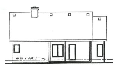 Rear Elevation Plan: 10-850