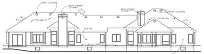 Rear Elevation Plan: 10-851