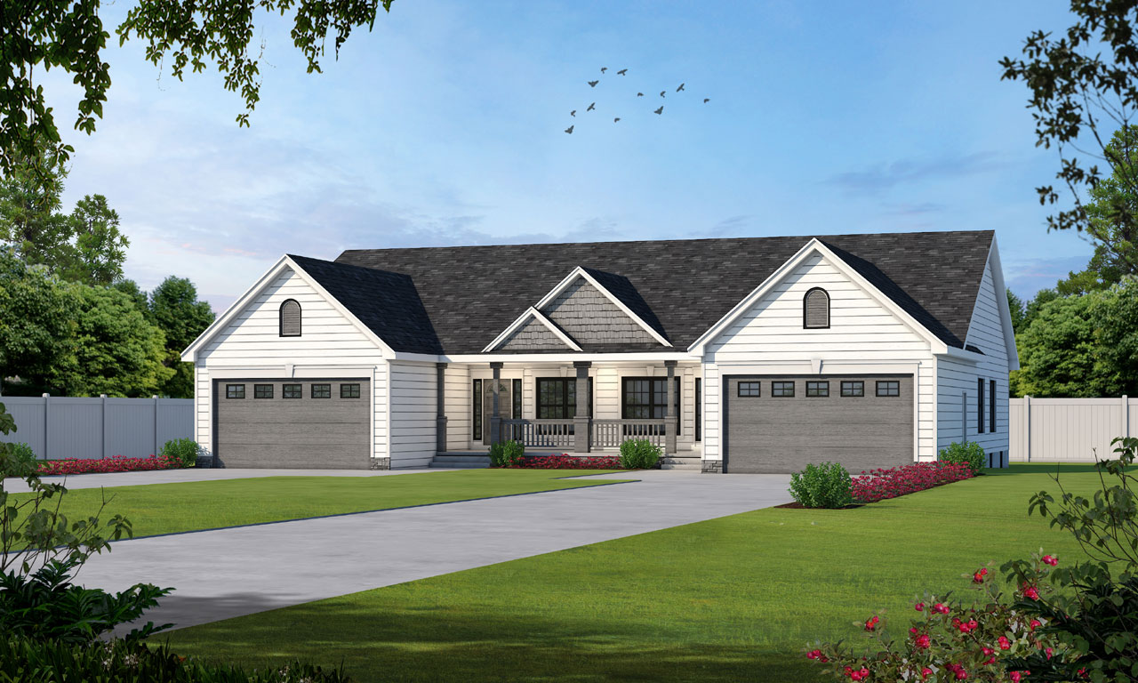 Traditional Style Home Design Plan: 10-853