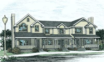Country Style Home Design Plan: 10-854
