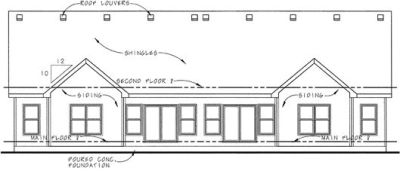 Rear Elevation Plan: 10-861