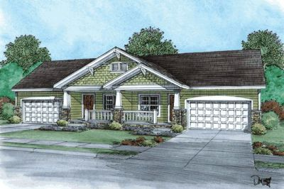 Craftsman Style Home Design 10-869
