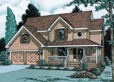 Country Style Floor Plans Plan: 10-877