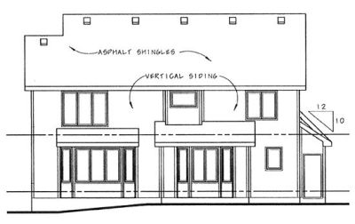 Rear Elevation Plan: 10-877