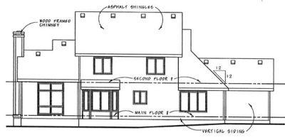 Rear Elevation Plan: 10-878