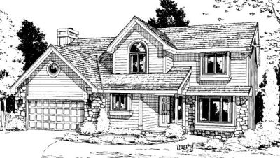 Traditional Style Home Design Plan: 10-880