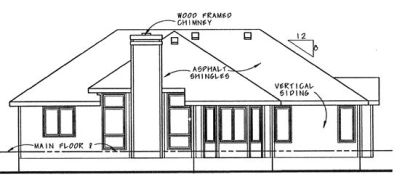 Rear Elevation Plan: 10-882