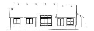 Rear Elevation Plan: 10-883