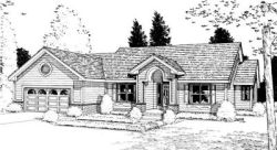 Traditional Style Home Design Plan: 10-883