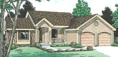 Traditional Style Home Design Plan: 10-884