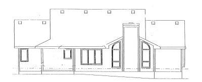 Rear Elevation Plan: 10-884