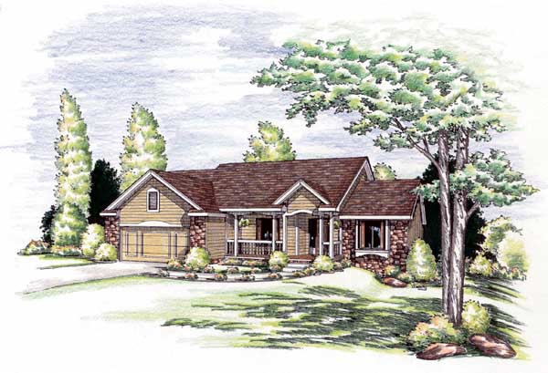 Traditional Style Floor Plans 10-885
