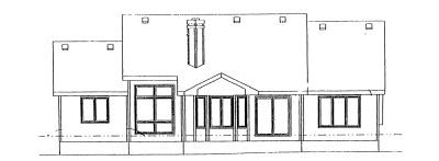 Rear Elevation Plan: 10-885