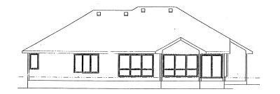Rear Elevation Plan: 10-888