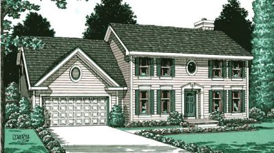Early-american Style Home Design Plan: 10-890