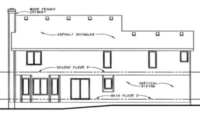 Rear Elevations Plan:10-890