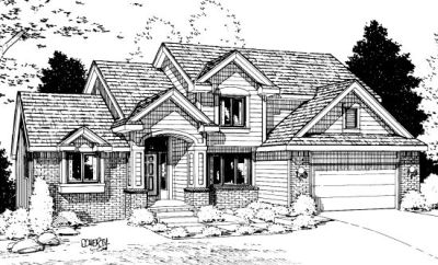 Traditional Style Home Design Plan: 10-892
