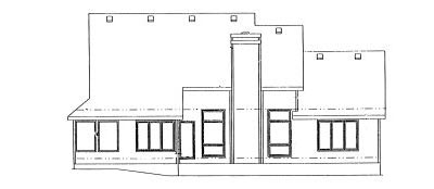Rear Elevation Plan: 10-892