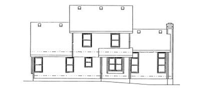 Rear Elevation Plan: 10-893