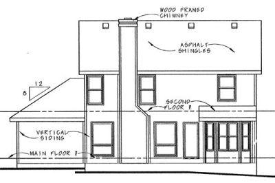 Rear Elevation Plan: 10-895