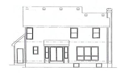 Rear Elevation Plan: 10-896