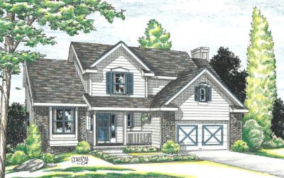 Traditional Style Home Design Plan: 10-897